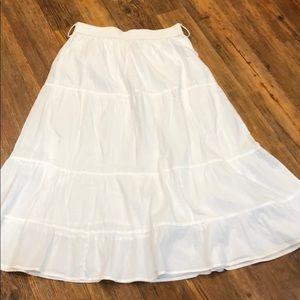 Studio West Apparel size medium white long skirt
